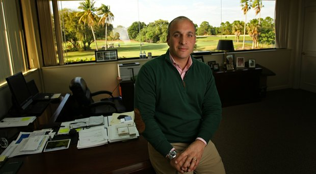Pete Bevacqua, CEO of the PGA of America, in his office in Palm Beach Gardens, Fla.