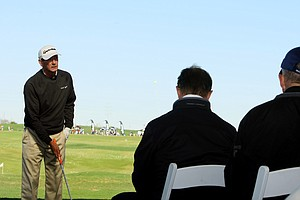 Hank Haney talks about instruction at Demo Day.