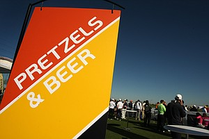 Hungry? Thirsty? Demo Day has you covered with pretzels and beer.
