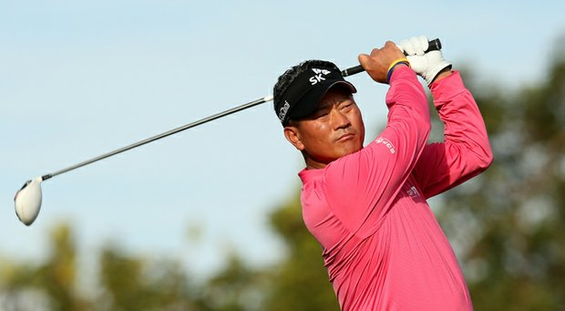 K.J. Choi during the first round of the Farmers Insurance Open at Torrey Pines.