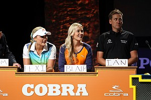 "Golf stars Lexi Thompson, Blair O'Neal and Ian Poulter play the ""Golf Feud"" game hosted by Cobra Puma Golf."