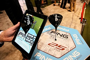 Ping's Augmented Reality features an iPad app that gives show attendees a close-up, 3D view of the new G25 driver.