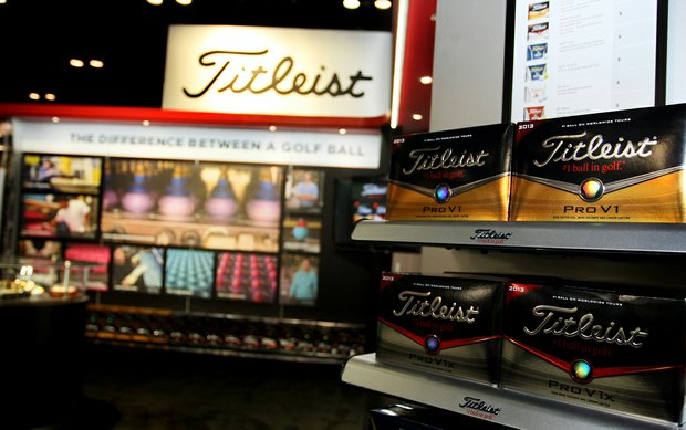Titleist's new models of its Pro V1 and Pro V1x golf balls are on display at this week's PGA Merchandise show in Orlando, Fla.