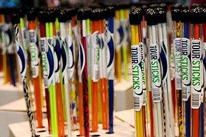 The Tour Sticks alignment aids are available in a wide range of colors.