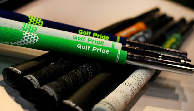 Golf Pride grips at the 2013 PGA Merchandise Show.