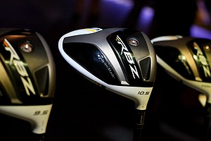 TaylorMade's new RocketBallz Stage 2 drivers are on display on the show floor.
