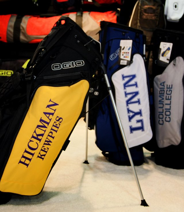 The Ogio hauler carry bag on display at the 2013 PGA Merchandise Show.