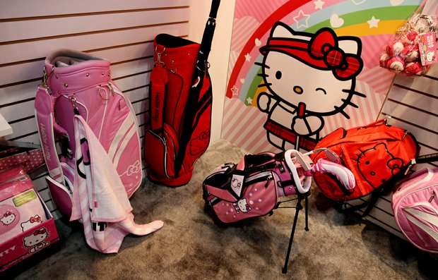 Children's brand Hello Kitty displayed golf gear for youngsters at the PGA Merchandise Show.