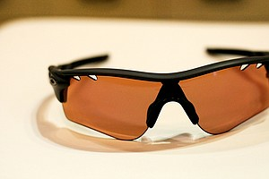 Oakley displayed its Radar Lock sunglasses on the show floor.