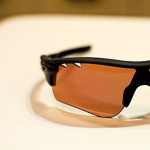 Oakley displayed its Radar Lock sunglasses on the show floor.