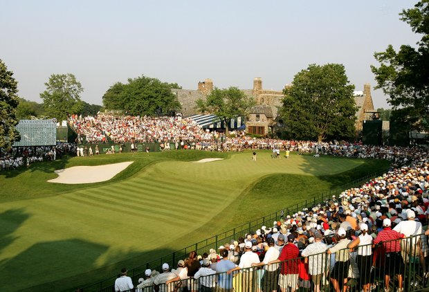 The 18th green at Winged Foot Golf Club.