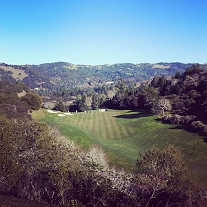 The 15th tee at Mayacama Golf Club in Santa Rosa, Calif., the home course for Cal.