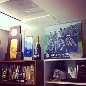 The office of Cal coach Steve Desimone.