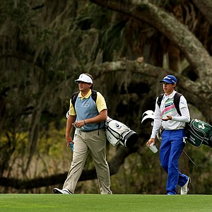 Will Evans, left, and Chase Koepka during the 2013 Jones Cup Invitational at Ocean Forest.