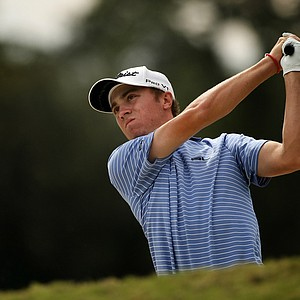 Defending champion, Justin Thomas during the 2013 Jones Cup Invitational at Ocean Forest.