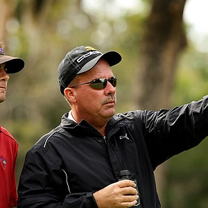 Scott Thompson, right, with his son Curtis Thompson during the 2013 Jones Cup Invitational at Ocean Forest. Lexi Thompson is Curtis Thompson's sister.