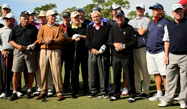 A gathering of Hall of Famers, Major Winners and invited guests gather before the Devon Quigley Pro-Am at the Floridian.
