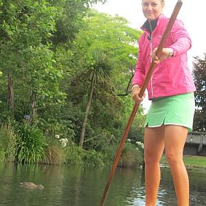 Anna Nordqvist takes a trip down the Avon in Christchurch, New Zealand.