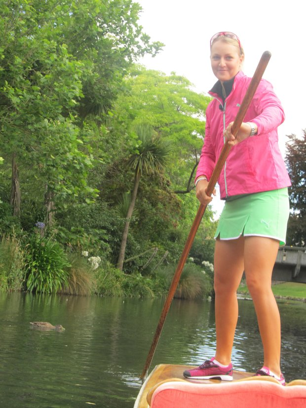 Anna Nordqvist takes a trip down the Avon in Christchurch, New Zealand.
