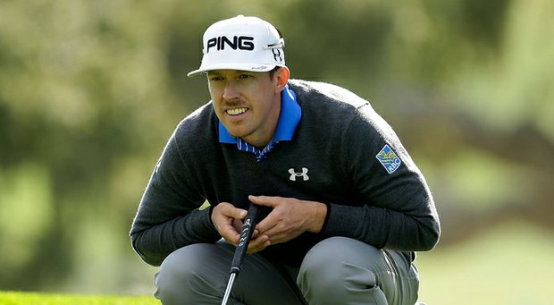 Hunter Mahan during the first round of the AT&T Pebble Beach National Pro-Am.