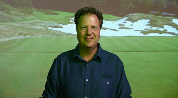 Gawain Robertson, co-owner of shaftmaker Accra Premium Golf Shafts in Kingston, Ontario, Canada.