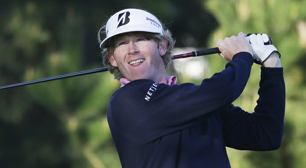 Brandt Snedeker during Round 3 of the AT&T Pebble Beach National Pro-Am.
