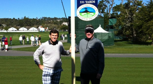 Bret Baier with his Pro-Am partner Todd Hamilton.