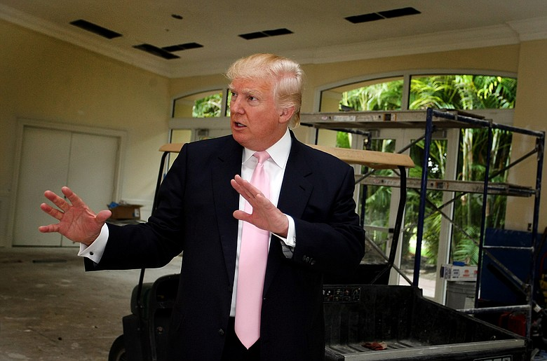 Donald Trump on a recent visit to the Doral Golf Resort and Spa, which he recently purchased.