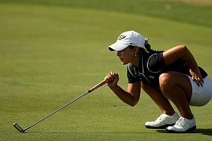 Paola Robles of UCF during the UCF Challenge at Red Tail Golf Club in Sorrento, Fla.