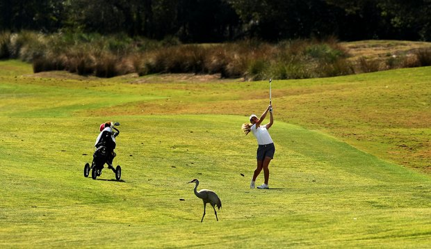 Katherine Hepler of Missouri at No. 9 during the UCF Challenge at Red Tail Golf Club in Sorrento, Fla.