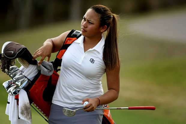 Seshia Lei Telles of Oregon State during the UCF Challenge at Red Tail Golf Club in Sorrento, Fla.