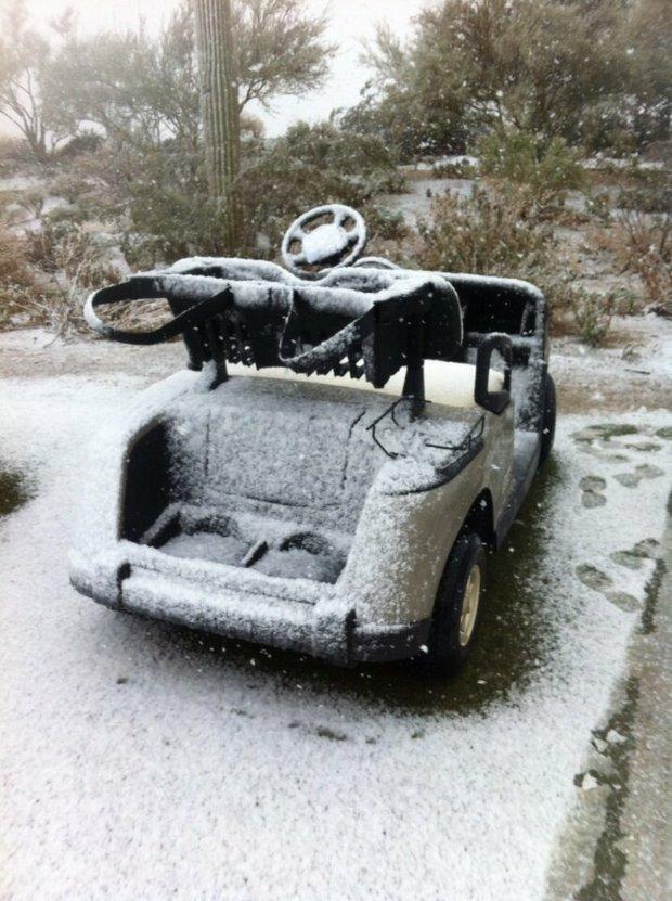 Golf cart or snowmobile?