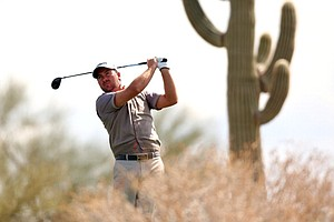 Graeme McDowell during the fourth round of the World Golf Championships-Accenture Match Play at the Golf Club at Dove Mountain on February 21, 2013 in Marana, Ariz.