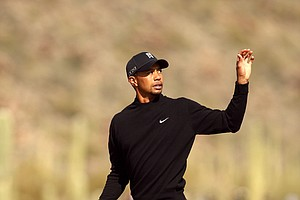 Tiger Woods during his first-round match against Charles Howell III at the WGC-Accenture Match Play Thursday in Marana, Ariz. Woods lost the match.
