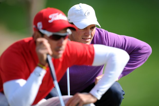 Martin Kaymer, right, and Rafael Cabrera-Bello during the second round of the WGC-Accenture Match Play Friday in Marana, Ariz.