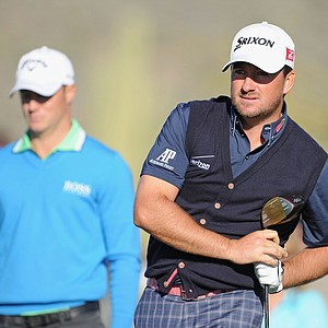 Graeme McDowell during the second round of the WGC-Accenture Match Play Friday in Marana, Ariz.
