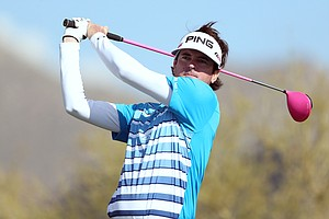 Bubba Watson during the second round of the WGC-Accenture Match Play Friday in Marana, Ariz.