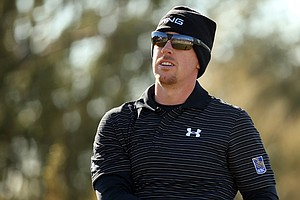 Hunter Mahan during the third round of the WGC-Accenture Match Play Championship.