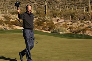 Matt Kuchar after beating Robert Garrigus in the quarterfinals of the WGC-Accenture Match Play Championship.