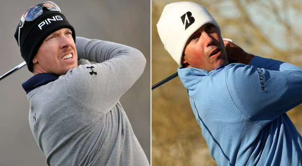 Hunter Mahan (left) and Matt Kuchar will face off in the WGC-Accenture Match Play final.