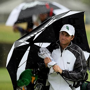 Curtis Donahoe of North Texas walks off the ninth during the John Hayt Invitational at Sawgrass Country Club.