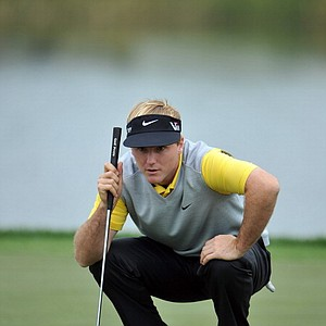 Russell Henley lines up a putt during the first round of the Honda Classic on Feb. 28 in Palm Beach Gardens, Fla.