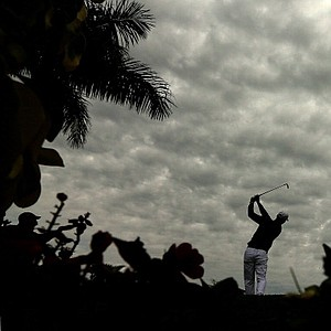 Martin Kaymer hits his tee shot on the 15th hole during the second round of the Honda Classic in Palm Beach Gardens, Fla.