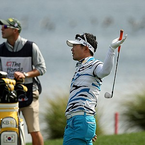 Y. E. Yang at No. 18 during the Honda Classic on Saturday.