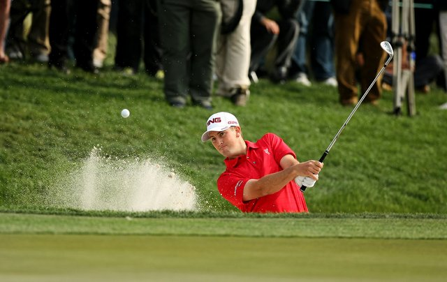 Michael Thompson holes out his bunker shot at No. 6 during the Honda Classic on Saturday.