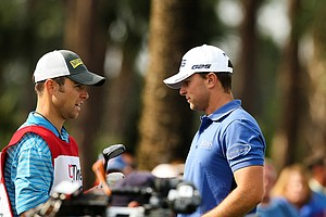Luke Guthrie, right, with his caddie/brother Zach during the Honda Classic on Saturday.