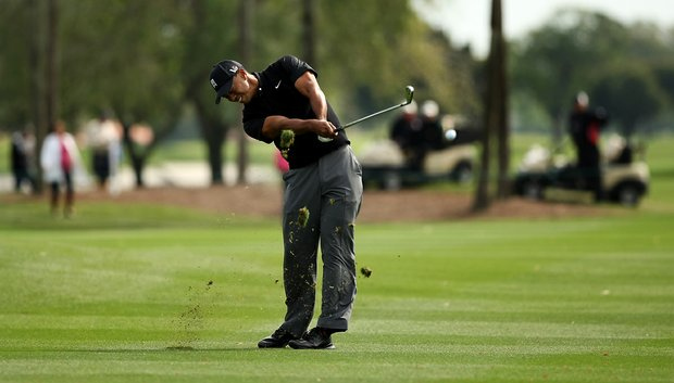 Tiger Woods at No. 10 during the Honda Classic on Saturday.