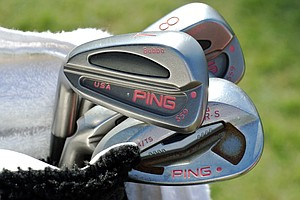 Watson uses a set of Ping S59 irons along with a Tour-S gap and sand wedge. He recently switched to Ping's Tour Wedge with Gorge Grooves in his 60 lob wedge.
