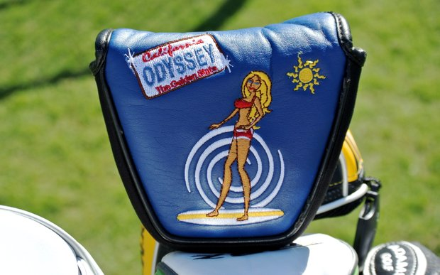 Robert Garrigus' Odyssey beach-themed putter headcover seems at home in Florida as it does in California.