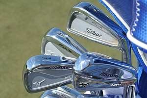 Chris Wood, who won the European Tour's Commercial Bank Qatar Masters in January, has a Titleist 735 CM 2-iron, a Mizuno MP-64 3-iron and Mizuno MP-69 mid- and short irons in his bag at Doral.